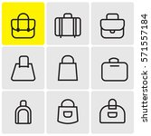 bags linear icons | Shutterstock .eps vector #571557184