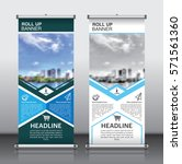 roll up brochure flyer banner... | Shutterstock .eps vector #571561360