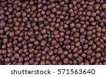 chocolate breakfast cereal...   Shutterstock . vector #571563640