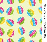 abstract egg decorative pattern | Shutterstock .eps vector #571564546
