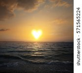a sun in the shape of a heart...   Shutterstock . vector #571565224