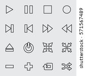 media player thin line icon set ...   Shutterstock .eps vector #571567489