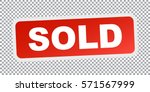 sold red stamp. flat vector icon | Shutterstock .eps vector #571567999