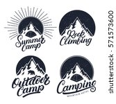 set of camping  summer camp ... | Shutterstock .eps vector #571573600