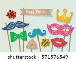 purim holiday concept with... | Shutterstock .eps vector #571576549