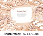 bakery product background.... | Shutterstock .eps vector #571578808
