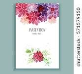 beautiful vintage card. floral... | Shutterstock .eps vector #571579150