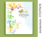 wedding invitation cards with... | Shutterstock .eps vector #571579678