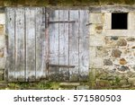 Weathered Old Stone Barn With ...