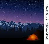 vector illustration of night... | Shutterstock .eps vector #571581958