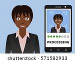 biometrical identification.... | Shutterstock .eps vector #571582933