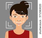 biometrical identification....   Shutterstock .eps vector #571583020