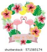 vector illustration of wedding... | Shutterstock .eps vector #571585174