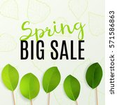 spring sale design. can be used ... | Shutterstock .eps vector #571586863