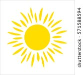 yellow sun icon isolated on... | Shutterstock .eps vector #571588594