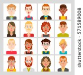 male and female avatar set.... | Shutterstock .eps vector #571589008