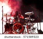 joshua dun  drummer of the duo...   Shutterstock . vector #571589323