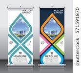 roll up brochure flyer banner... | Shutterstock .eps vector #571591870