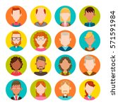 colorful round icons with male... | Shutterstock .eps vector #571591984