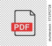 pdf icon on isolated background | Shutterstock .eps vector #571592728