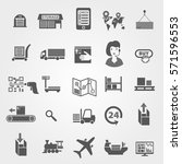 set of icons on a theme of... | Shutterstock .eps vector #571596553