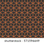 seamless black and orange... | Shutterstock .eps vector #571596649