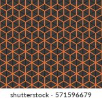 seamless black and orange... | Shutterstock . vector #571596679