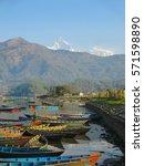 phewa lake pokhara | Shutterstock . vector #571598890