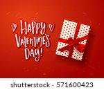 valentine s  card design   .... | Shutterstock .eps vector #571600423