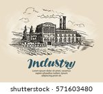 industry  factory sketch.... | Shutterstock .eps vector #571603480