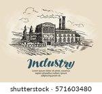 industry  factory sketch.... | Shutterstock .eps vector #571603480