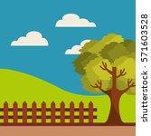 farm fresh field icon vector... | Shutterstock .eps vector #571603528