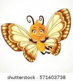 cute little butterfly with... | Shutterstock .eps vector #571603738