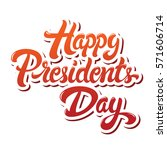 happy presidents day hand drawn ... | Shutterstock .eps vector #571606714