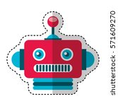 electric robot avatar character ... | Shutterstock .eps vector #571609270