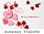 gingerbread hearts for... | Shutterstock . vector #571621933