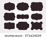 vintage black frame empty set.... | Shutterstock .eps vector #571624039