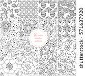 set of seamless hand drawn...   Shutterstock .eps vector #571637920
