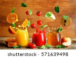 Set Of Juices  Orange  Tomato...