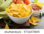 Corn Tortilla Chips In Big Bow...