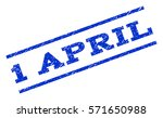 1 april watermark stamp. text... | Shutterstock .eps vector #571650988
