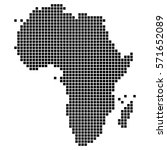dotted  pixel map of the... | Shutterstock .eps vector #571652089