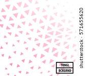 pink triangle design background ... | Shutterstock .eps vector #571655620