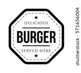 burger vintage stamp | Shutterstock .eps vector #571656004