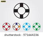 lifebuoy  icon  vector... | Shutterstock .eps vector #571664236
