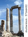 TEMPLE OF HERCULES IN AMMAN - stock photo