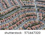 aerial view of tightly packed... | Shutterstock . vector #571667320