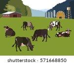 Dairy Farm. Vector Illustration
