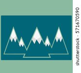 the mountains icon vector in... | Shutterstock .eps vector #571670590
