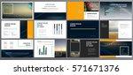 original dark presentation... | Shutterstock .eps vector #571671376